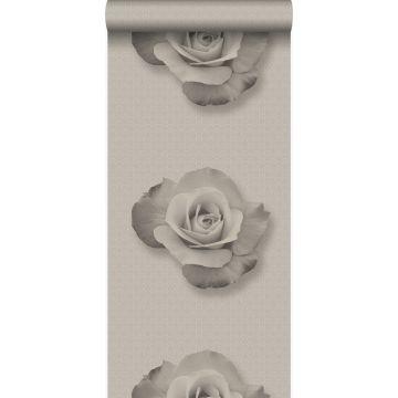 tapet ros grått och svart