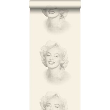 tapet Marilyn Monroe vitt och grått