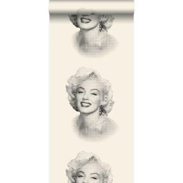 tapet Marilyn Monroe vitt och svart