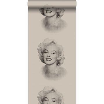 tapet Marilyn Monroe grått och svart