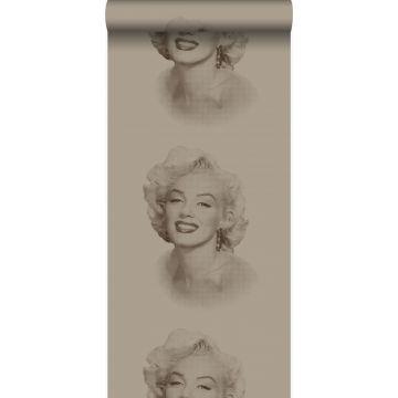 tapet Marilyn Monroe glänsande brons
