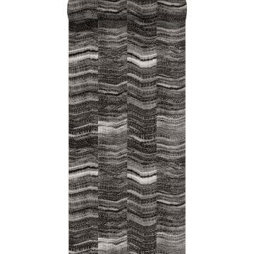 tapet siscksackränder av skiktad marmor svart