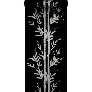 tapet bambu matt svart och grått
