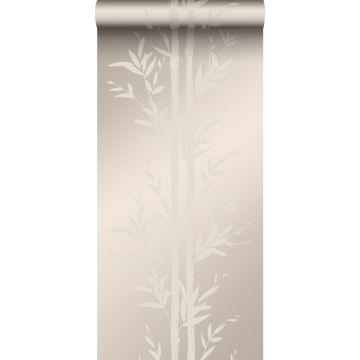 tapet bambu varm silver