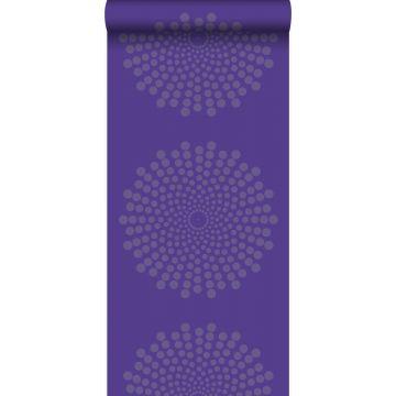 tapet grafisk form lila