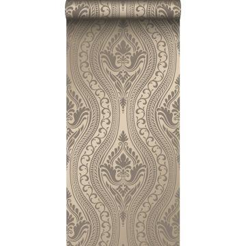 tapet ornament glänsande brons