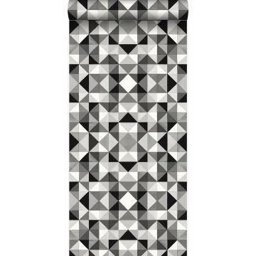 tapet kubism svart och vitt
