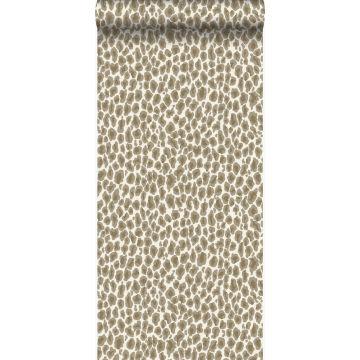 tapet leopardskinn beige