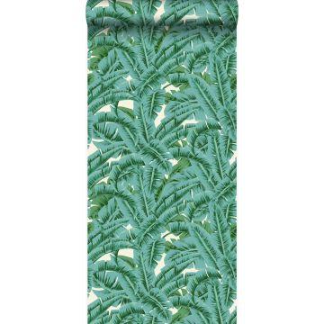 tapet palmblad grönt