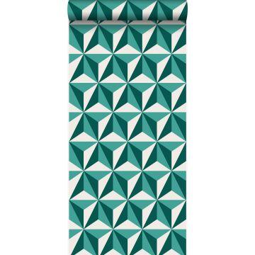 tapet tredimensionell grafik smaragdgrönt