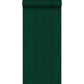 tapet färska träplankor smaragdgrönt