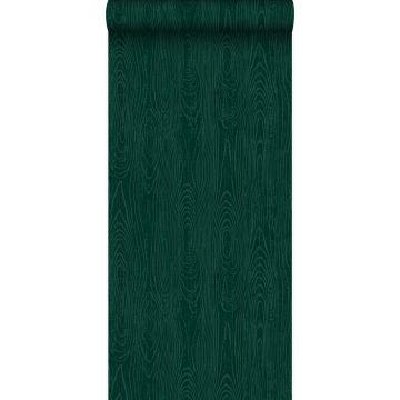 tapet träplankor med nerver smaragdgrönt