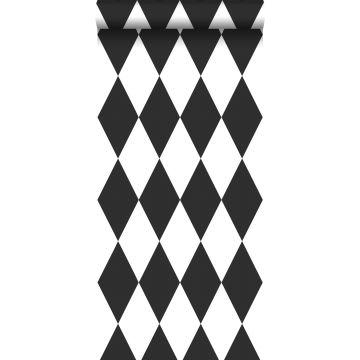 tapet rutor svart och vitt