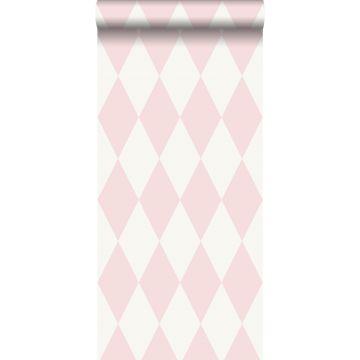 tapet rutor glänsande rosa