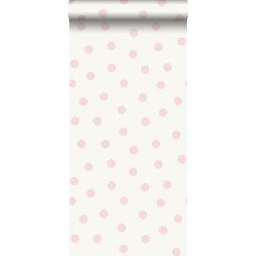 tapet prickar glänsande rosa och vitt