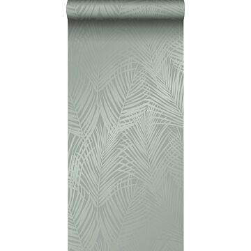 tapet palmblad grågrönt