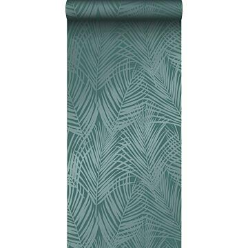 tapet palmblad smaragdgrönt