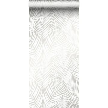 tapet palmblad vitt