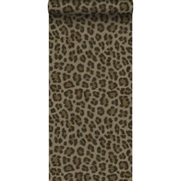 tapet leopardskinn brunt och beige