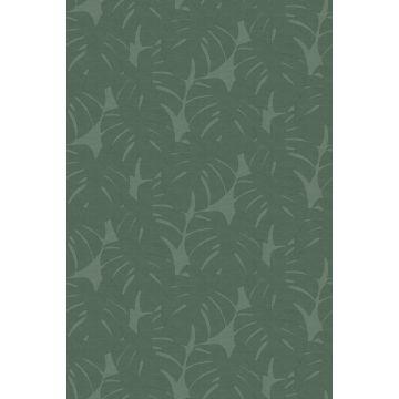 fototapet blad med vävd struktur grönt