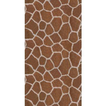 fototapet giraff mönster brunt