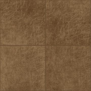 selvklæbende fliser øko-læder fyrkant konjak brun