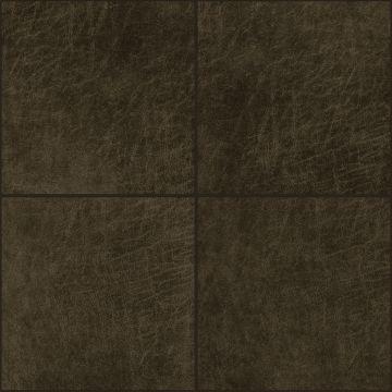 selvklæbende fliser øko-læder fyrkant mörkbrunt