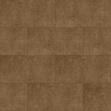selvklæbende fliser øko-læder rektangel konjak brun