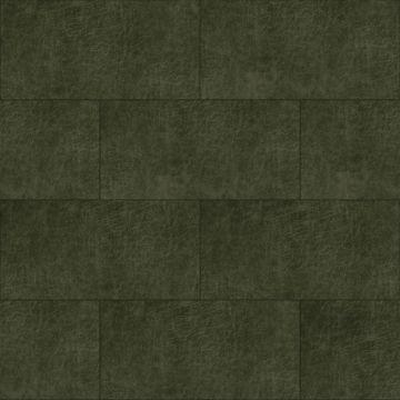 selvklæbende fliser øko-læder rektangel olivgrönt