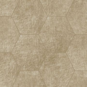 selvklæbende fliser øko-læder sexkant sandfärgat