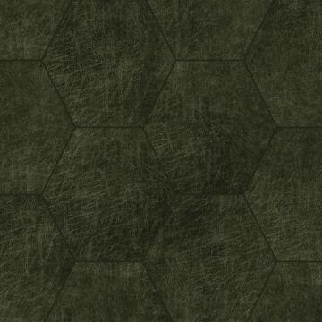 selvklæbende fliser øko-læder sexkant olivgrönt