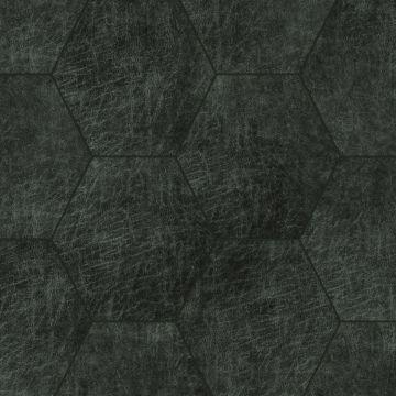 selvklæbende fliser øko-læder sexkant antracitgrått