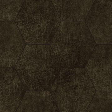 selvklæbende fliser øko-læder sexkant mörkbrunt