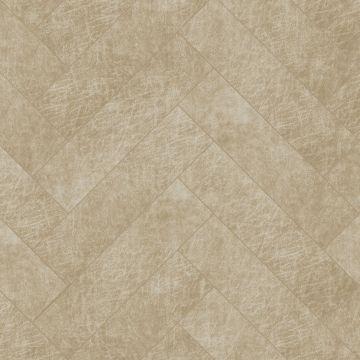 selvklæbende fliser øko-læder fiskbensmönster sandfärgat