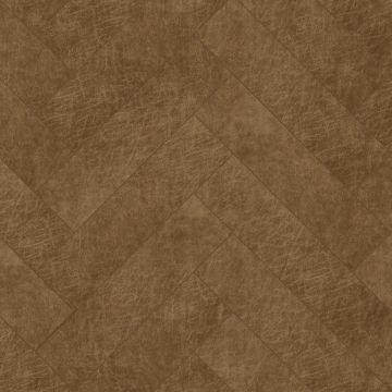 selvklæbende fliser øko-læder fiskbensmönster konjak brun