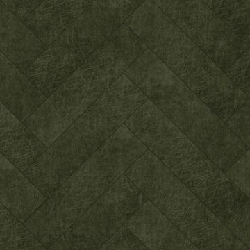 selvklæbende fliser øko-læder fiskbensmönster olivgrönt