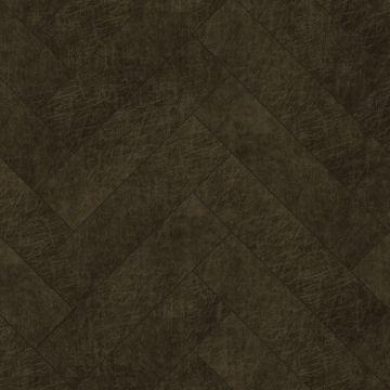 selvklæbende fliser øko-læder fiskbensmönster mörkbrunt